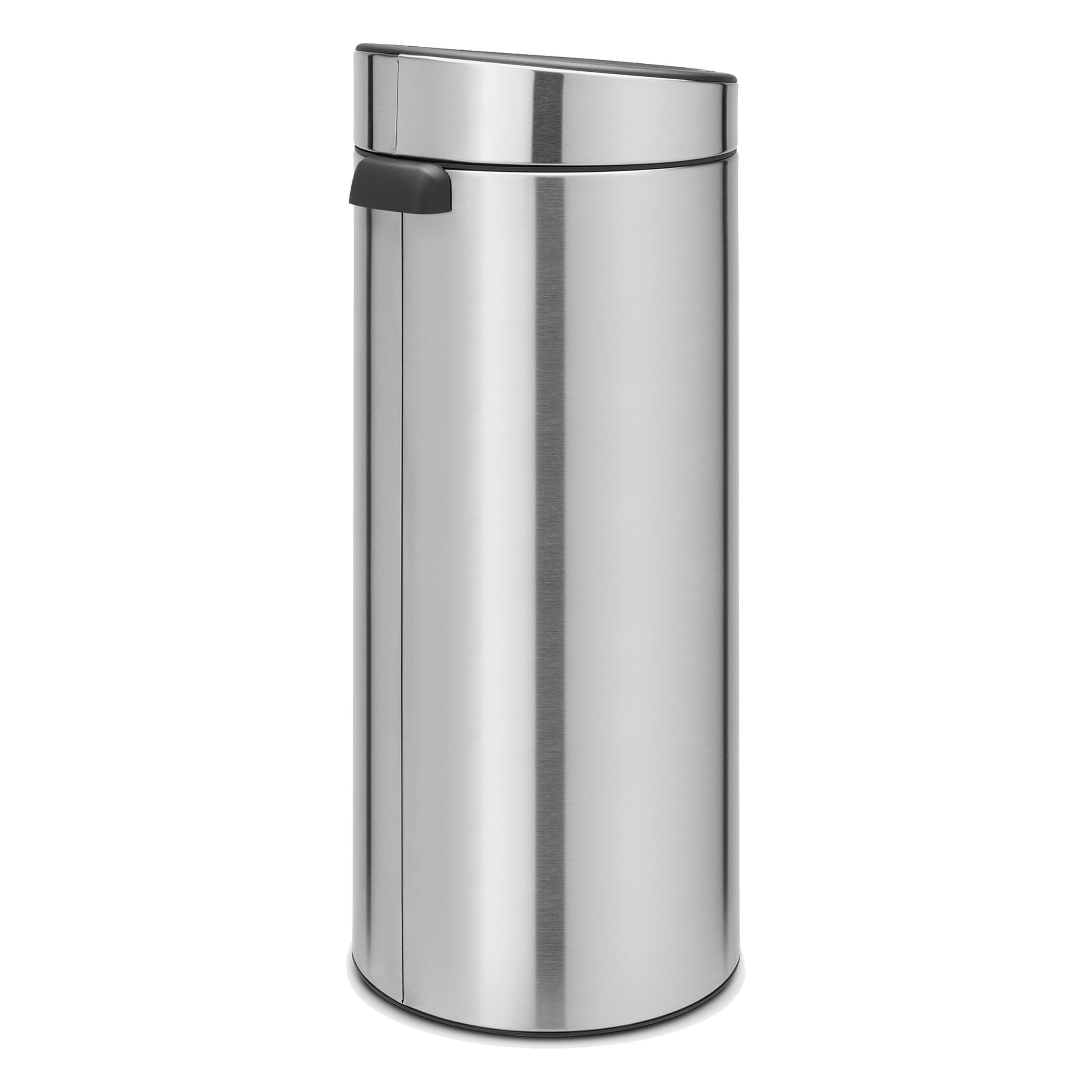 Brabantia Touch Bin 30 Liter.Brabantia Touch Bin Trash Can Wastebasket Dustbin In Matt Steel